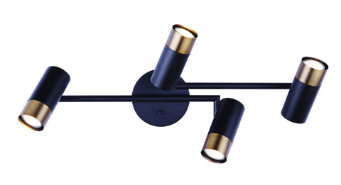 Castor 4 Light Track - Black and Gold Ceiling 7th Sky Design