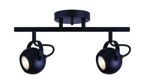 Murphy 2 Light Track - Black Ceiling 7th Sky Design