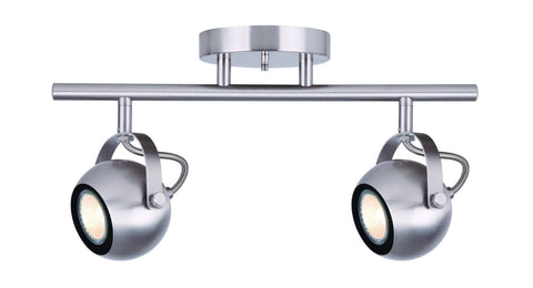 Murphy 2 Light Track - Brushed Nickel Ceiling 7th Sky Design