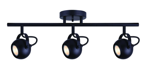 Murphy 3 Light Track - Black Ceiling 7th Sky Design