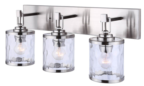 Cala 3 Light Bath Vanity Light - Brushed Nickel