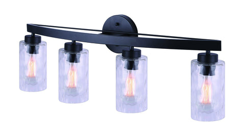 Newport 4 Light Bath Vanity Light - Black
