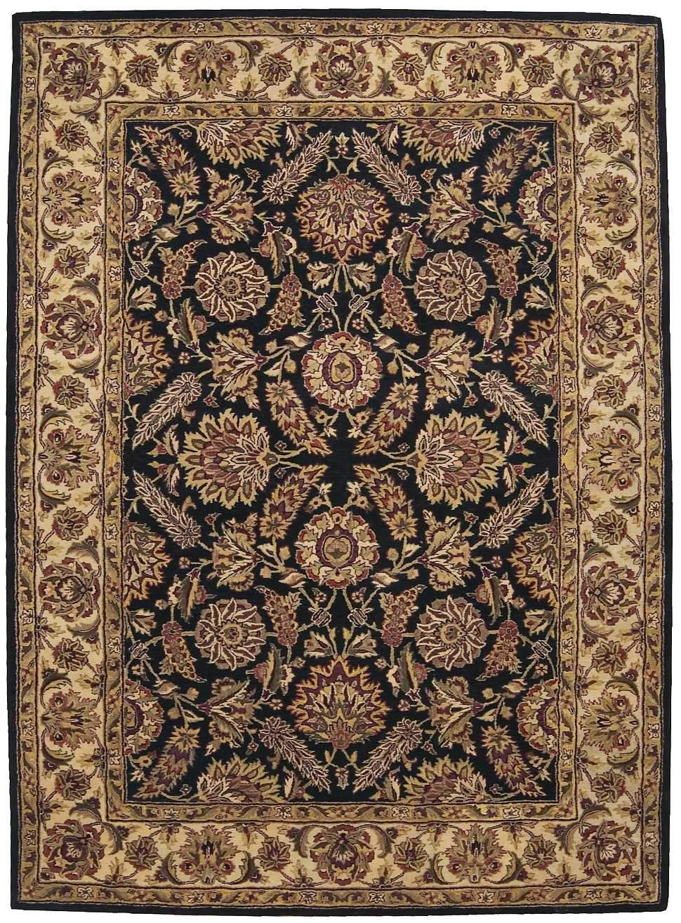 "Jaipur Black Rug - 3 Size Options Rugs Nourison 5'6"" x 8'6"" Area"