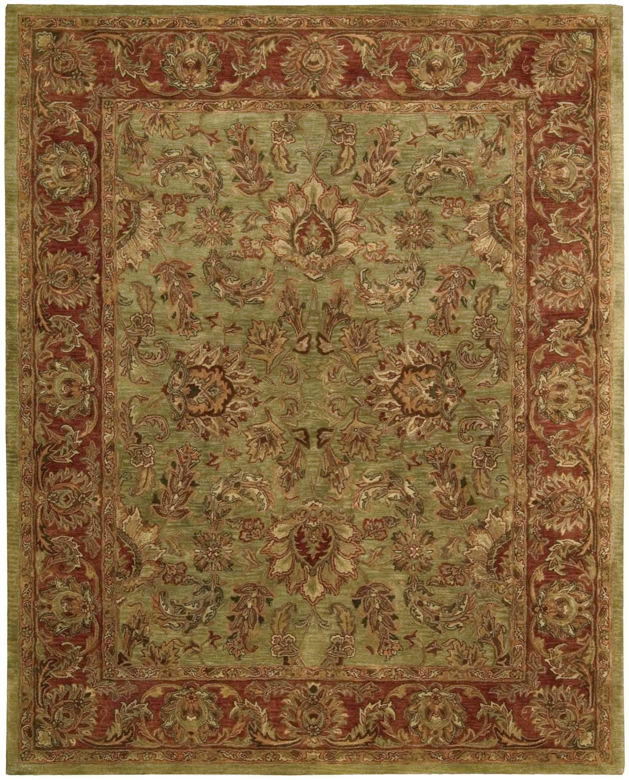 "Jaipur Olive Rug - 2 Size and Shape Options Rugs Nourison 8'3"" x 11'6"" X-Large"