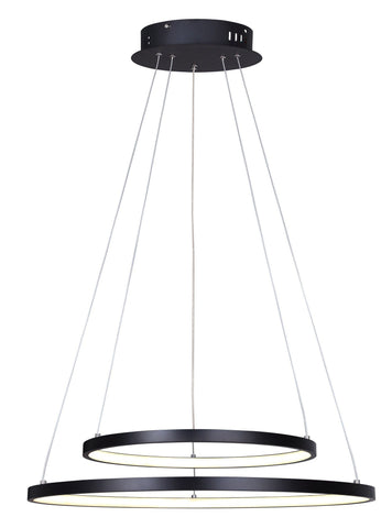 "Lexie 24""w LED Chandelier - Black"