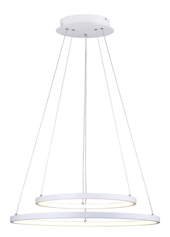 "Lexie 24""w LED Chandelier - White"