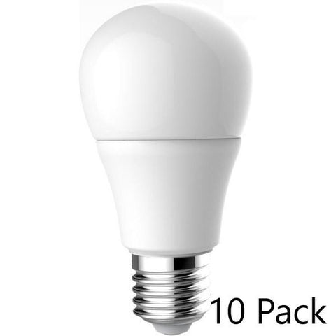 LED A19 Dimmable 60W Replacement Bulb (Choose 3000, 4000 or 5000K) - 10 Pack