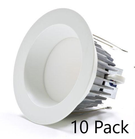 "6"" Premium LED Downlight Retrofit - Choose Warm, Cool or Daylight - 10 Pack"