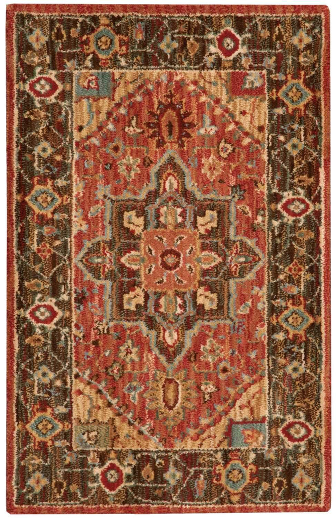 "Living Treasures Rust Rug - 10 Size and Shape Options Rugs Nourison 2'6"" x 4'3"" Mat"