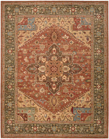 "Living Treasures Rust Rug - 10 Size and Shape Options Rugs Nourison 8'3"" x 11'3"" X-Large"