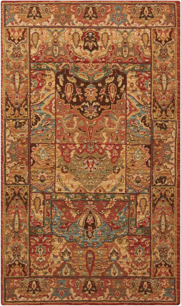"Living Treasures Multicolor Rug - 10 Size and Shape Options Rugs Nourison 2'6"" x 4'3"" Mat"