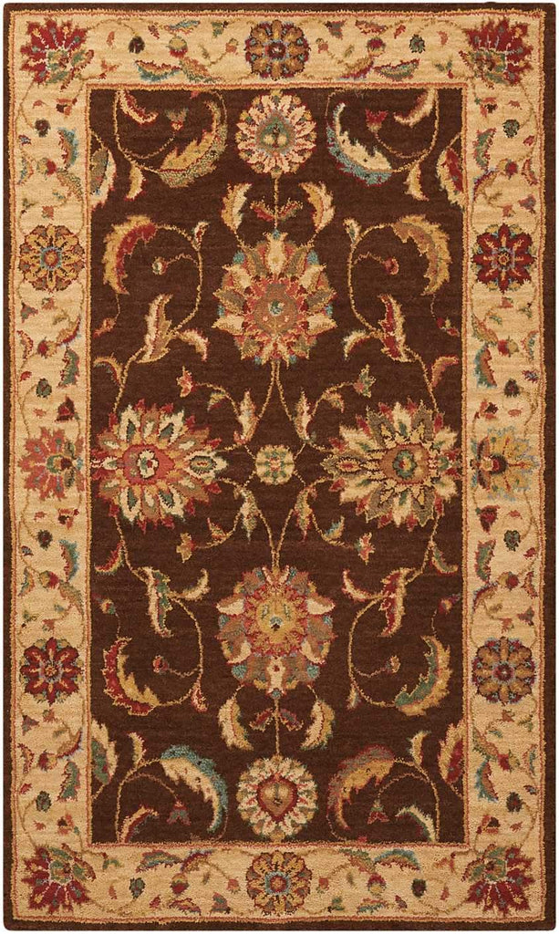 "Living Treasures Brown Rug - 10 Size and Shape Options Rugs Nourison 2'6"" x 4'3"" Mat"