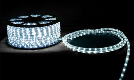 6' LED Round Rope Light 2.7W 65 LEDs White 12V
