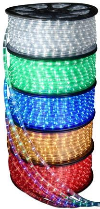 6' LED Round Rope Light 4.5W 72 LEDs White 120V