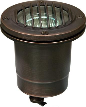 Dabmar Solid Brass In-Ground Well Light with Grill