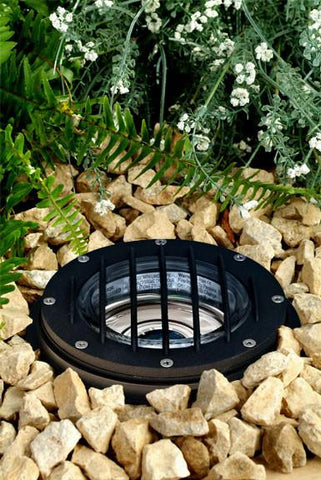 "Cast Aluminum 12V 6"" In-Ground Well Light with Grill - 5 Finish Options Outdoor Dabmar"