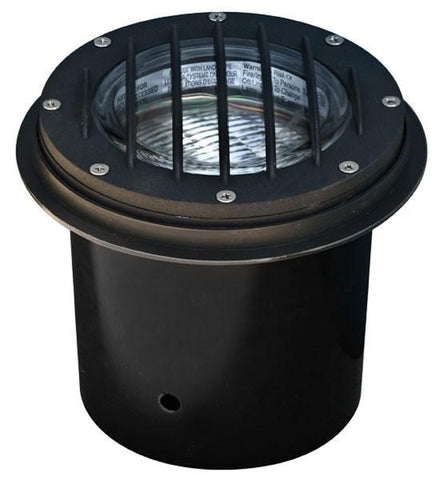 "Cast Aluminum 12V 6"" In-Ground Well Light with Grill - 5 Finish Options"
