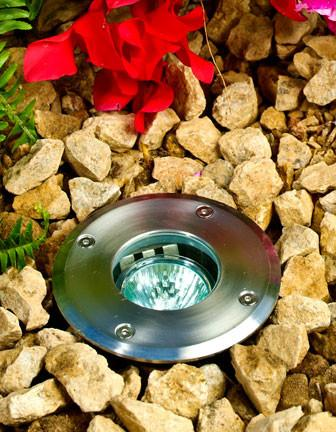 Dabmar Stainless Steel In-Ground Well Light with Adjustable Lamp