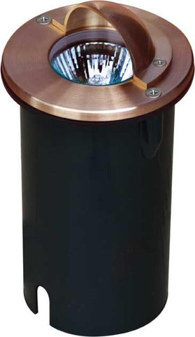 Solid Copper In-Ground Well Light with Eyelid Outdoor Dabmar
