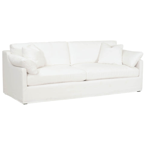 "Lena 95"" Slope Arm Slipcover Sofa"