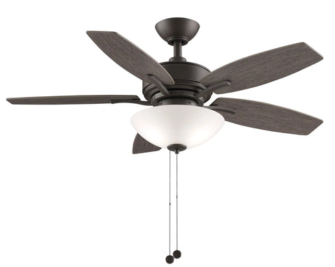 Aire Deluxe - 44 inch Matte Greige Ceiling Fan with Light Kit