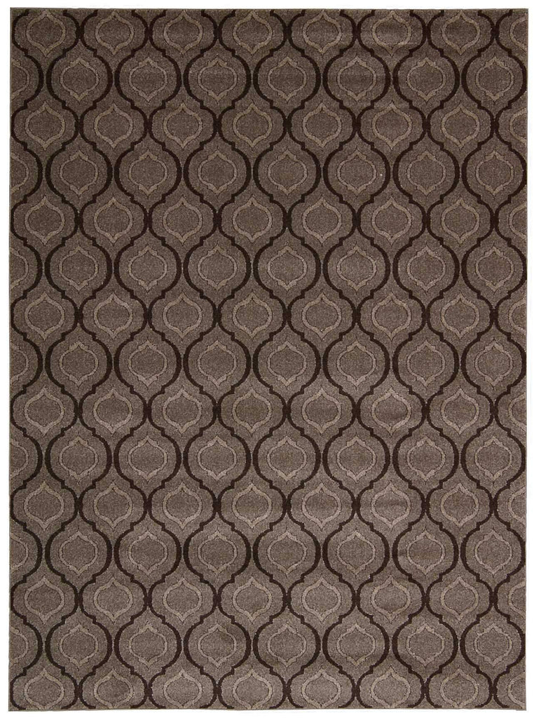 "Glistening Nights Grey Rug - 5 Size Options Rugs Nourison 2'2"" x 7'6"" Runner"
