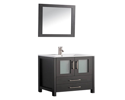 "Arezzo 36"" Single Sink Modern Bathroom Vanity - Espresso"