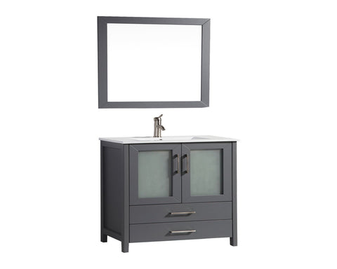 "Arezzo 48"" Single Sink Modern Bathroom Vanity - Grey"