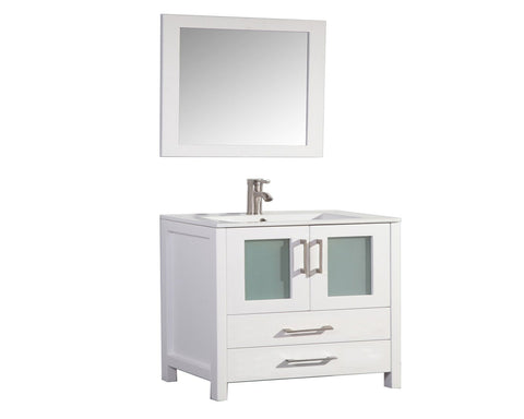 "Arezzo 48"" Single Sink Modern Bathroom Vanity - White"
