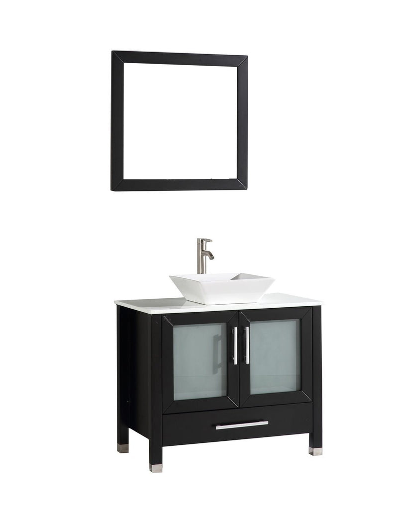 "Jordan 48"" Single Sink Vanity Set - Espresso Furniture MTD Vanities Espresso"