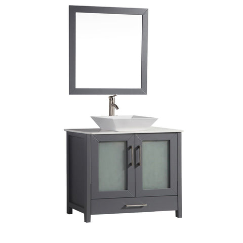"Jordan 48"" Single Sink Bathroom Vanity Set - Grey"