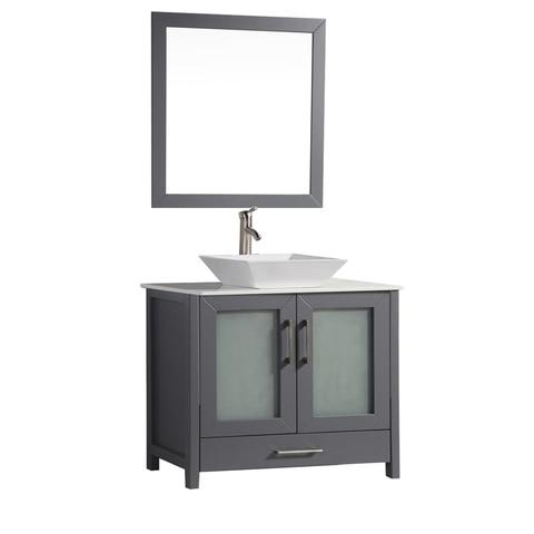 "Jordan 36"" Single Sink Bathroom Vanity Set - Grey"