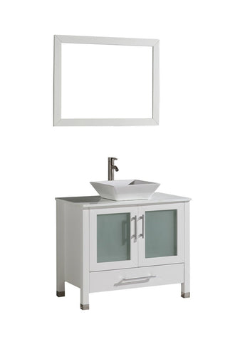 "Jordan 48"" Single Sink Vanity Set White"