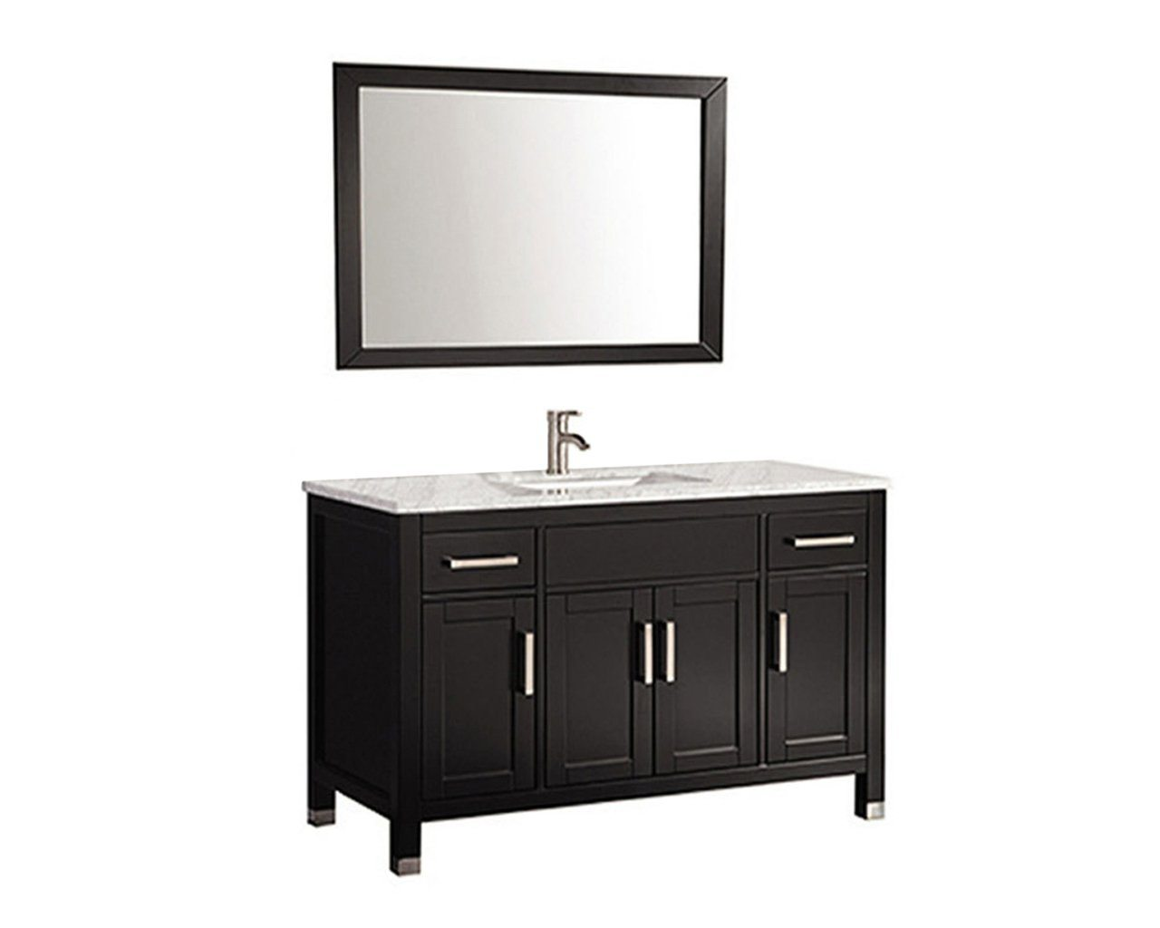 "Ricca 48"" Single Sink Vanity Set Espresso Furniture MTD Vanities"
