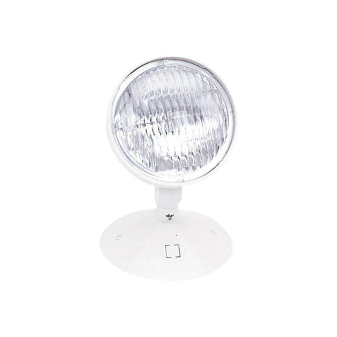 Emergency Single Head Remote, White Architectural Nora Lighting