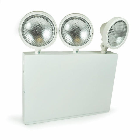 Steel Body Emergency w/ Three Adjustable Heads, Battery Backup Architectural Nora Lighting