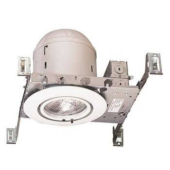 Emergency New Construction Downlight, Black