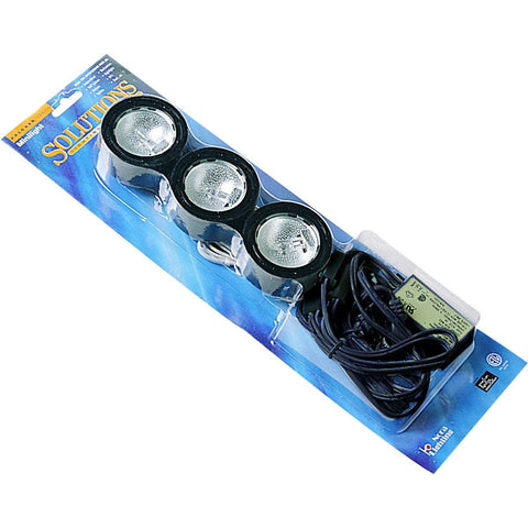 Mini Xenon Smooth Under Cabinet Downlight Kit - Black