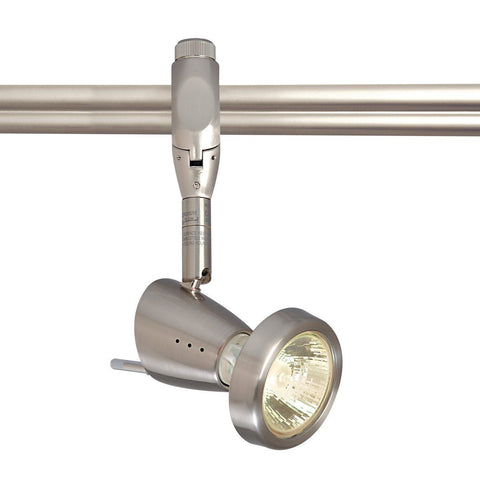 Siena Monorail Head w/ Ring, Brushed Nickel Tracks Nora Lighting