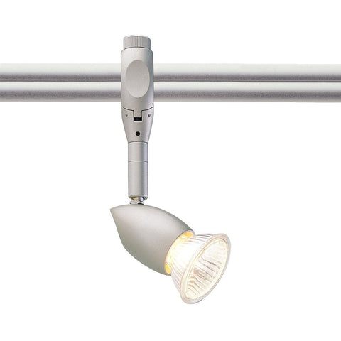 Neat Monorail Head, Brushed Nickel Tracks Nora Lighting