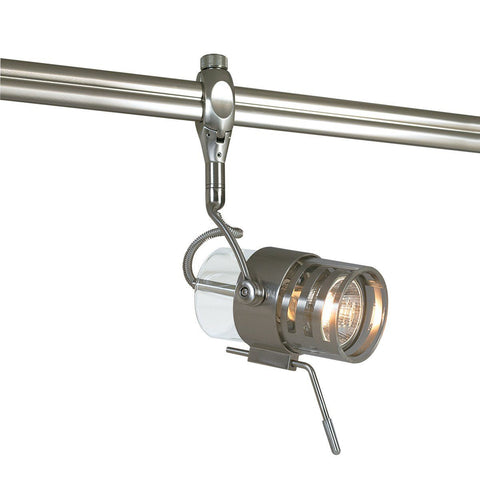 Lima Monorail Head, Brushed Nickel Tracks Nora Lighting