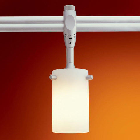 Swiftec - Brushed Nickel, Translucent Orange Tracks Nora Lighting