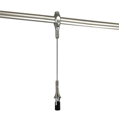 8.5' Rail Mounted Pendant Assembly, Candelabra Socket, Bronze Tracks Nora Lighting