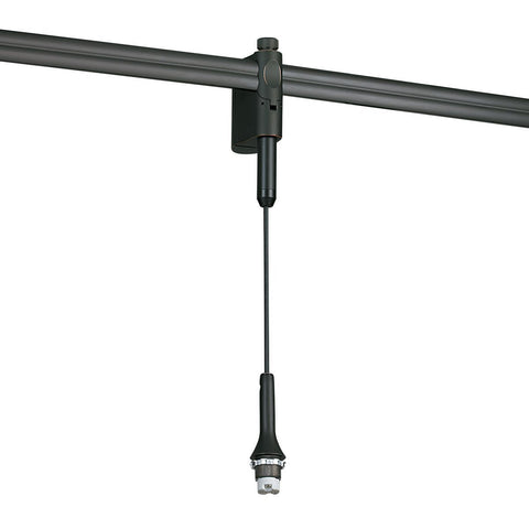 8.5' Low Voltage Rail Mounted Pendant Assembly, Brushed Nickel Tracks Nora Lighting