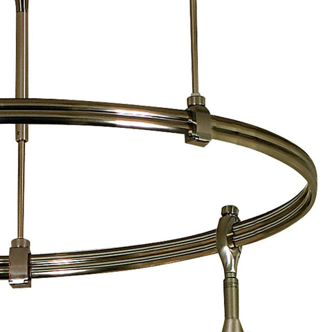 "24"" Diameter Circle, Bus Bars on Inside for Nora Rail - Silver, Bronze or Brushed Nickel"