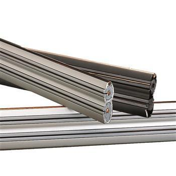 Nora Rail Sections - Silver, Bronze or Brushed Nickel in 3 Length Options Tracks Nora Lighting Silver 4' (1.2M)