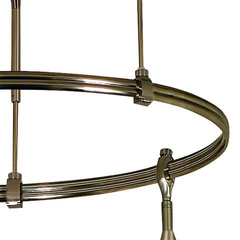 "4' Rail, Pre-Bent Nora Monorail Curve Section (Choose 3 Finishes and 2 Sizes) Tracks Nora Lighting Silver 39"" Radius, Bus Bar on Outside"
