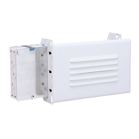 25W Step Light, Junction Box, Frosted Glass Face, White (UL Wet Listed)