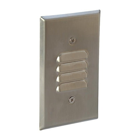 7W Mini Step Light w/ Horizontal & Vertical Louver, Brushed Nickel