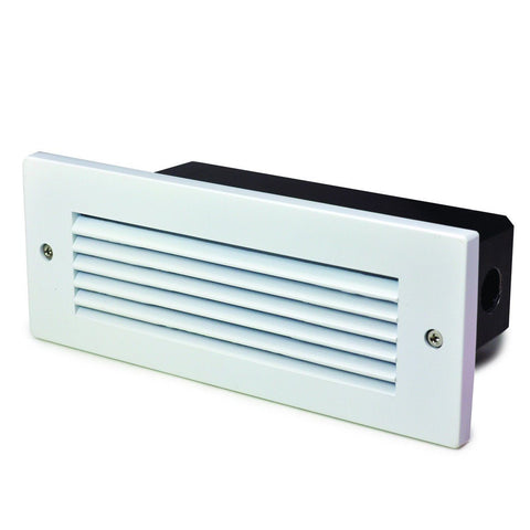 4W LED BrickStep Light w/ Horizontal Louver, 2925K (White, Bronze or Nickel)